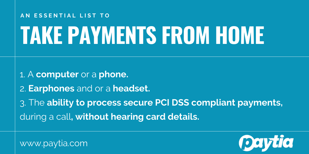 Take payments from home