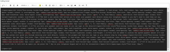 Merchant - VT Calling Script Code View 20092019