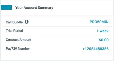 Sign up 1 - account summary